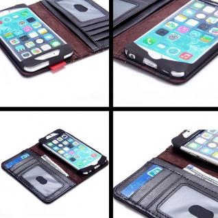 Tasche Book Retro Style für Apple iPhone 6 Plus 5.5 Hülle Case Etui Schutz Cover - Vorschau 3
