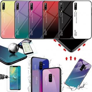 Für viele Smartphone Modelle Effekt Design Color Glas Tasche Case Hülle Cover