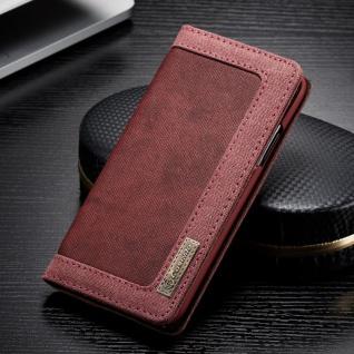 CaseMe Booktasche Flip Tasche Apple iPhone X / XS Cover Etui Schutzhülle Rot Neu