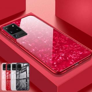 Für Samsung Galaxy S20 Plus G985F Color Effekt Glas Cover Rot Tasche Etuis Case