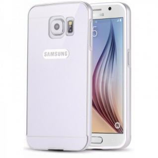 Alu Bumper 2 teilig Abdeckung Silber für Samsung Galaxy S6 G920 G920F Tasche Neu