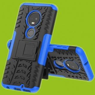 Für Motorola Moto G7 / G7 Plus Hybrid 2teilig Outdoor Blau Tasche Etuis Hülle