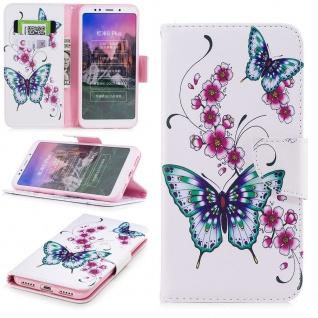 Für Samsung Galaxy J4 Plus J415F Kunstleder Tasche Book Motiv 31 Hülle Case Etui