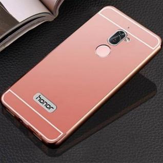 Alu Bumper 2 teilig mit Abdeckung Rosa für Huawei Honor 6X Tasche Hülle Case Neu