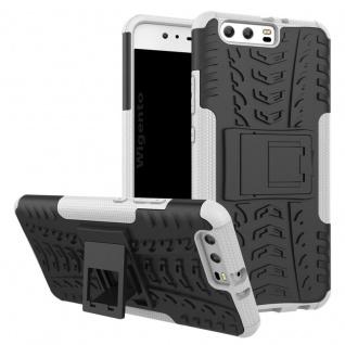 New Hybrid Case 2teilig Outdoor Weiß für Huawei P10 Plus Tasche Hülle Cover Neu