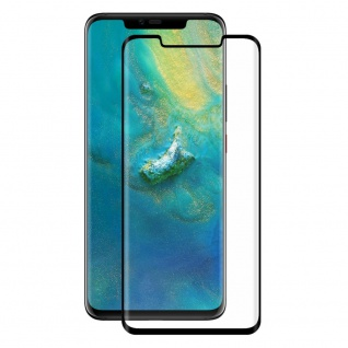 Für Huawei Mate 20 Pro 4D 0, 3 mm H9 Full Curved Display Hart Glas Folie Schwarz