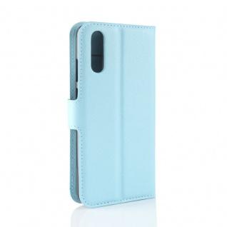 Tasche Wallet Premium Blau für Huawei P20 Hülle Case Cover Schutz Etui Schale - Vorschau 5