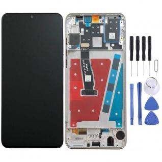 Für Huawei P30 Lite Display Full LCD Touch mit Rahmen Ersatz Reparatur Weiß Neu