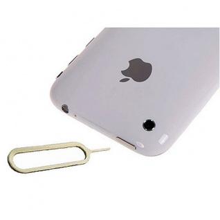 2x iPhone 4S 4 3G 3GS Pin Nadel Simkarten Kartenpin Simnadel Öffner Eject Klamme