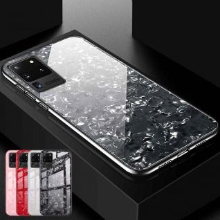 Für Samsung Galaxy S20 Ultra Color Effekt Glas Cover Schwarz Handy Tasche Etui