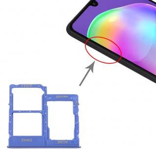 Dual Sim Karten Halter für Samsung Galaxy A31 Blau Card Tray Micro SD Ersatzteil
