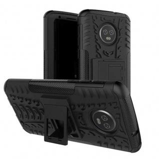 Für Motorola Moto G6 Plus Hybrid Case 2teilig Outdoor Schwarz Etui Tasche Hülle