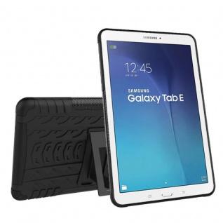Hybrid Outdoor Schutzhülle Schwarz für Samsung Galaxy Tab E 9.6 SM T560 Tasche