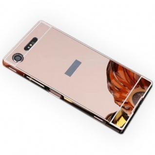 Alu Bumper 2teilig Abdeckung Pink für Sony Xperia XZ1 G8341 G8342 Tasche Case