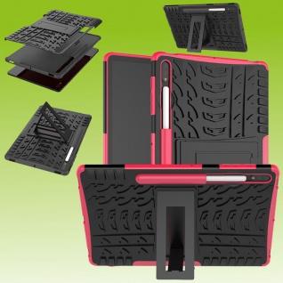 Für Samsung Galaxy Tab S7 Plus / S7 FE Hybrid Pink Tablet Tasche Etuis Hülle Case Cover