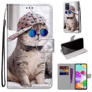 Für Samsung Galaxy A41 Kunstleder Handy Tasche Book Motiv 7 Hülle Case Etuis