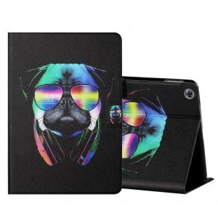 Für Huawei MediaPad M5 Lite 10.1 Motiv 5 Tablet Tasche Kunst Leder Hülle Etuis