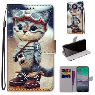 Für Nokia 3.4 Kunstleder Handy Tasche Book Motiv 1 Hülle Case Cover Etuis Schutz