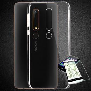 Silikoncase Transparent Tasche + 0, 3 H9 Panzerglas für Nokia 6 2018 Hülle Cover