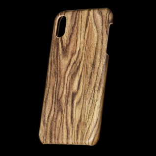 Für Apple iPhone XS MAX 6.5 Zoll Holz Wald Muster 2 Tasche Hülle Hard Cover Neu
