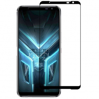 Für ASUS Rog Phone 3 2x 3D Display Full H9 Hart Glas Schwarz Folie dünn Panzer