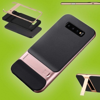 Für Samsung Galaxy S10 Plus Standing Hybrid Rosa Tasche Etuis Hülle Outdoor Case