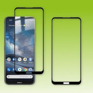 Für Nokia 8.3 5G 2x 3D Display Full LCD H9 Hart Glas Schwarz Folie Panzer Schutz