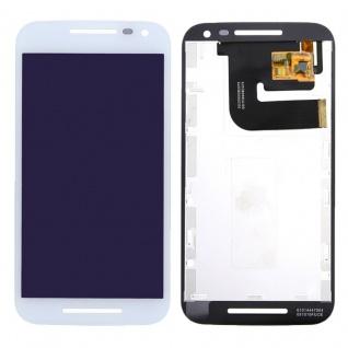 Display LCD Komplett Einheit für Motorola Moto G 3. Gen XT1540 XT1541 Weiß Neu
