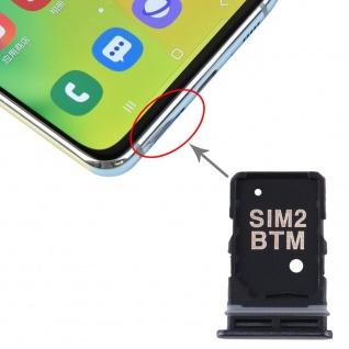 Sim Karten Halter + SIM Karten Halter für Samsung Galaxy A80 Schwarz Card Tray