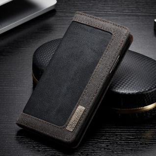 CaseMe Booktasche Flip Tasche Apple iPhone X / XS Cover Etui Schutzhülle Schwarz