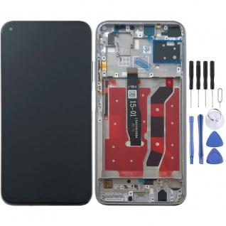 Für Huawei P40 Lite Display Full LCD + Rahmen Touch Reparatur Ersatzteil Silber