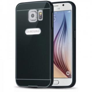 Alu Bumper 2 teilig m. Abdeckung Schwarz für Samsung Galaxy S6 G920 G920F Tasche