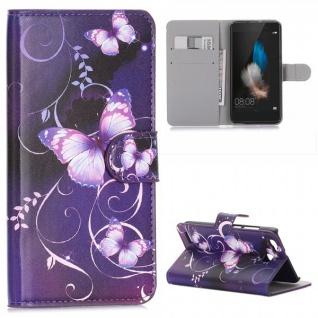 Schutzhülle Muster 37 für Huawei P9 Bookcover Tasche Case Hülle Wallet Etui Neu
