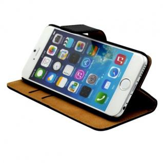 Wallet Tasche Deluxe Schwarz für Apple iPhone 6 4.7 Handy Hülle Zubehör Case - Vorschau 2