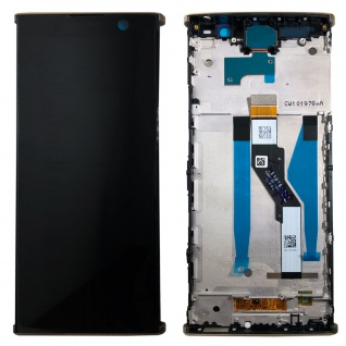 Sony Display LCD für 78PC5100030 Xperia XA2 Plus Reparatur Ersatz + Rahmen Gold