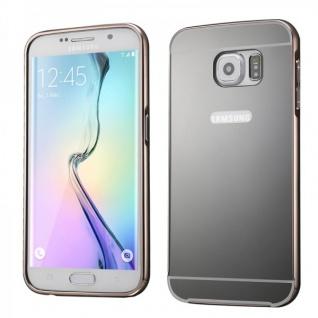 Alu Bumper 2 teilig Abdeckung Schwarz für Samsung Galaxy S6 Edge Plus G928F Case
