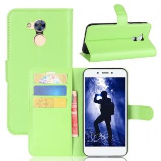 Tasche Wallet Premium Grün für Huawei Honor 6A Hülle Case Cover Etui Neu Schutz