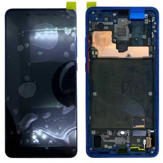 Für Xiaomi Mi 9T / 9T Pro Display Full OLED LCD mit Rahmen Reparatur Ersatz Blau