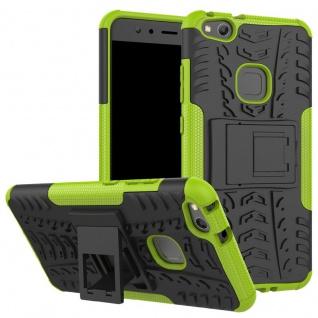 New Hybrid Case 2teilig Outdoor Grün für Huawei P10 Lite Tasche Hülle Cover Neu