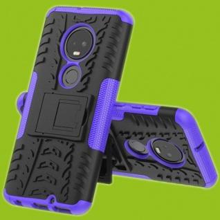 Für Motorola Moto G7 / G7 Plus Hybrid 2teilig Outdoor Lila Tasche Etuis Hülle
