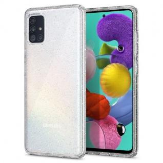 Spigen Liquid Crystal Silicone Case für Samsung Galaxy A71 Transparent Schutz Handy Hülle Case Etui