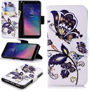 Für Samsung Galaxy A6 A600 2018 Kunstleder Tasche Book Motiv 39 Hülle Case Cover