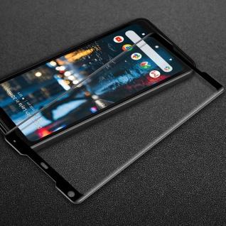 Für Google Pixel 2 XL 0, 3 mm H9 3D Hart Glas Schwarz Folie Schutz Hülle Neu