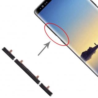 Für Samsung Galaxy Note 8 Sidekeys Seitentasten Schwarz Ersatz Zubehör Reparatur
