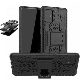 Für Samsung Galaxy Note 10 Lite N770 Hybrid 2teilig Outdoor Schwarz Tasche Cover