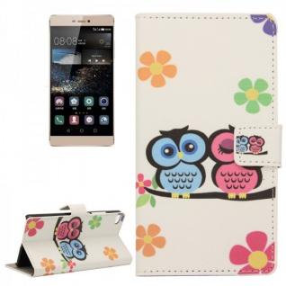 Schutzhülle Muster 43 für Huawei Ascend P8 Bookcover Tasche Hülle Wallet Case