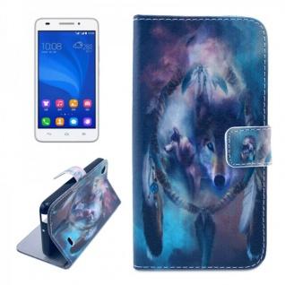 Schutzhülle Muster 43 für Huawei Ascend G620S Bookcover Tasche Hülle Wallet Neu