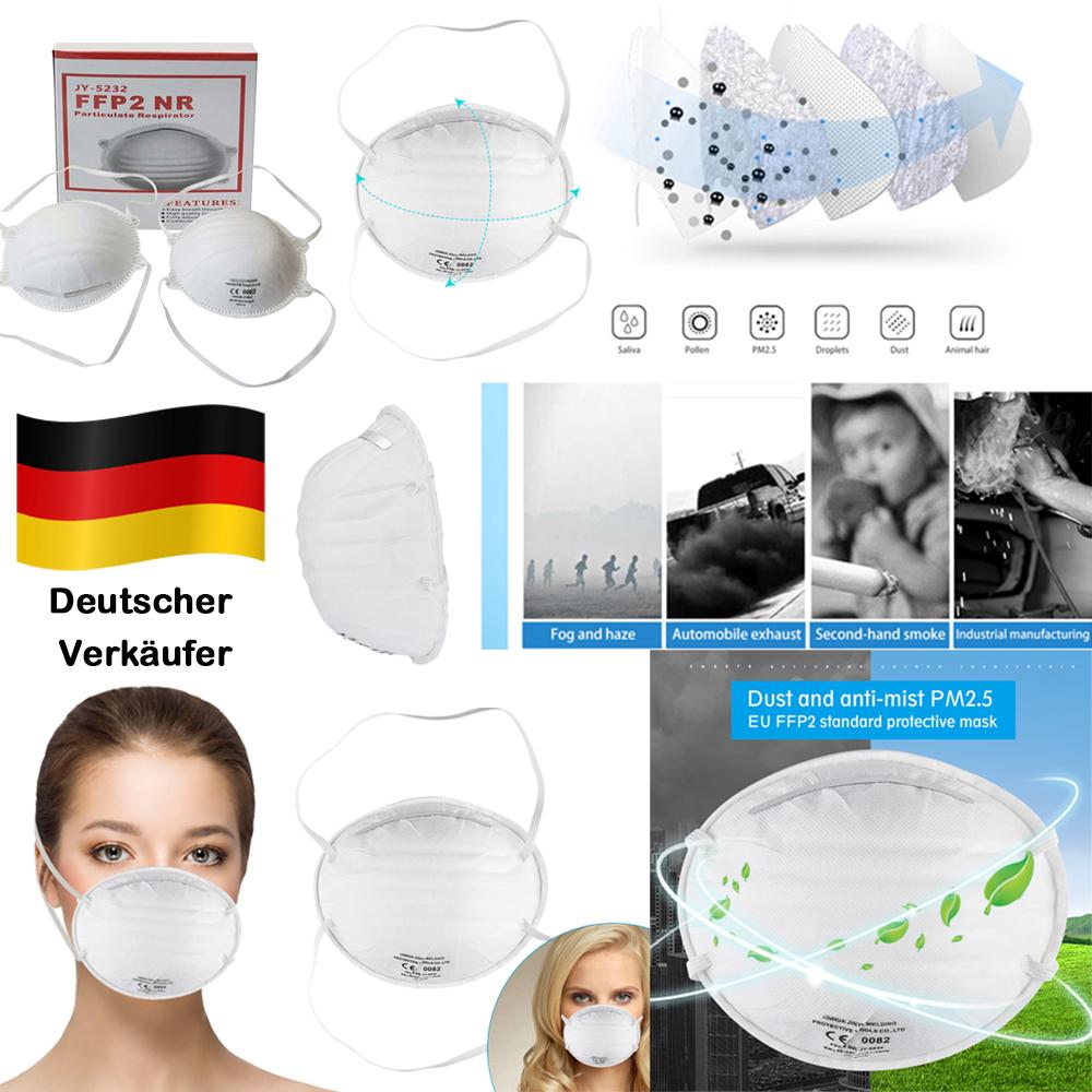 10x Hochwertige Atem Schutzmaske Atemschutzmaske FFP2 ...