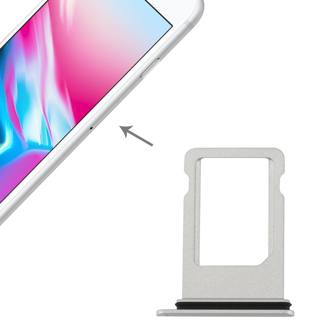 Ersatz Sim Karte.Sim Karten Halter Adapter Sim Card Tray Für Apple Iphone 8 4 7 Silber Ersatz Neu