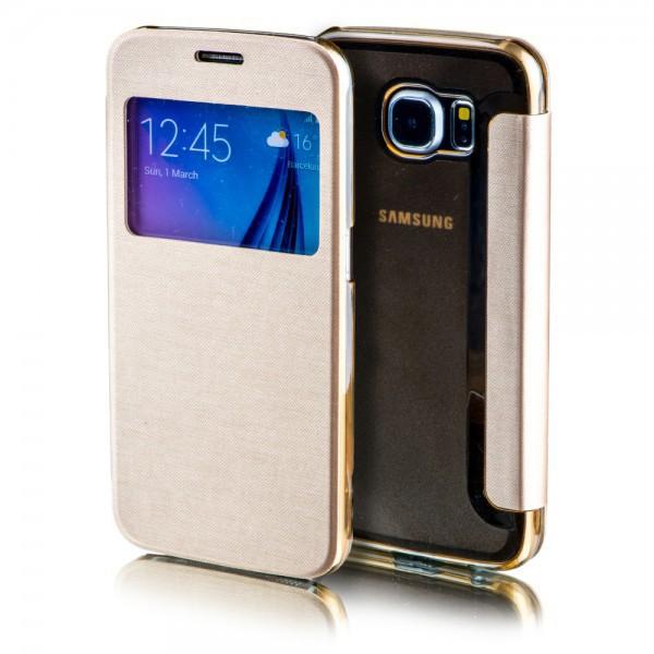 Window Gold Edge G935f Samsung Galaxy S7 Für G935 Smartcover Tasche PkO8n0wX